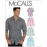 McCall's Patterns M6044Taille XM Petit–Moyen–Grand Hommes de chemises, Lot de 1, Blanc