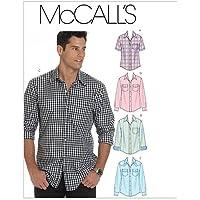 McCalls M6044 - Patrón de costura para confeccionar camisa de hombre (5 modelos diferentes) [en inglés y alemán]