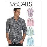 McCall's Patterns M6044Taille XM Petit-Moyen-Grand Hommes de Chemises, Lot de 1, Blanc