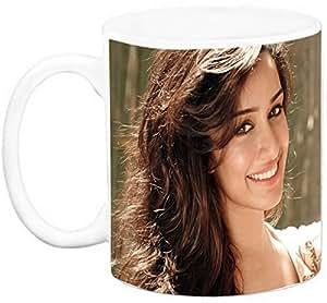 EFW CERAMIC 'BOLLYWOOD ACTRESS - shraddha kapoor (Design 2) WHITE' Coffee Mug