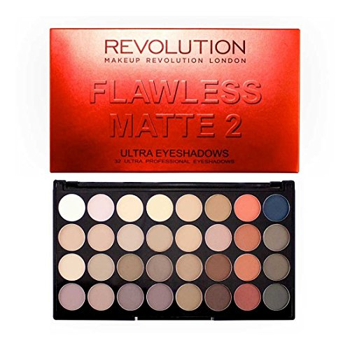 MAKEUP REVOLUTION Ultra 32 Shade Eyeshadow Palette Flawless Matte 2, 20 g