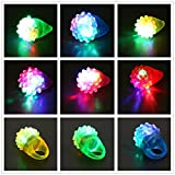 HARRYSTORE Flashing LED Light Up Toys, Glow In The Dark Bumpy Rings, 18-Pack