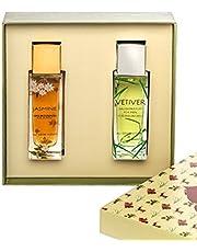 All Good Scents Eternal Perfume Giftset for Couple, Perfume Giftset for Men and Women, Longlasting perfume gift sets, [ Jasmine For Women - (50ML) + Vetiver For Men - (50ML) ] - Pack Of 2