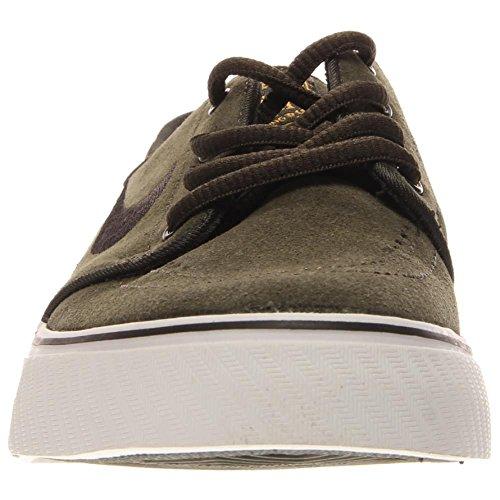 Nike Stefan Janoski (Gs), Chaussures de Skate Garçon, Noir Multicolore - Verde / Negro (Sequoia / Black-University Gold)