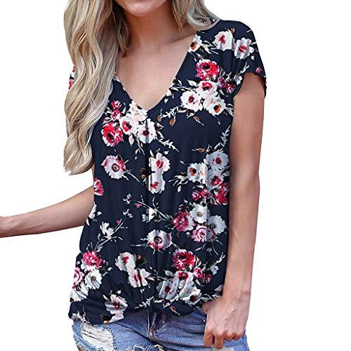 4113c7c9fa SHJIRsei Maglietta Manica Corta Estive Casual Camicia Elegante Tops Tumblr  Maglie Donna Taglie Forti T-