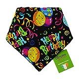 Dimples Hundehalstuch - Geburtstag Party (Handgemacht für alle Größen und Rassen) 55cm