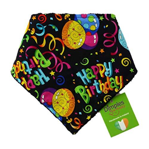 Dimples Bandana Cane - Festa di Compleanno (Fatto a Mano per Cani di Tutte Le Taglie) 25 cm