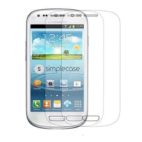 Simplecase Panzerglas passend zu Samsung Galaxy S3 Mini , Premium Bildschirmschutz , Schutz durch Extra Härtegrad 9H , Case Friendly , Echtglas / Verb&glas / Panzerglasfolie , Transparent - 2 Stück