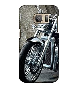 Fuson Designer Back Case Cover for Samsung Galaxy S7 :: Samsung Galaxy S7 Duos :: Samsung Galaxy S7 G930F G930 G930Fd (Designer Bike theme)