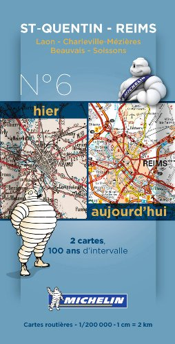 Saint Quentin - Reims Centernary Maps - Pack 006 (Michelin Historical Maps)