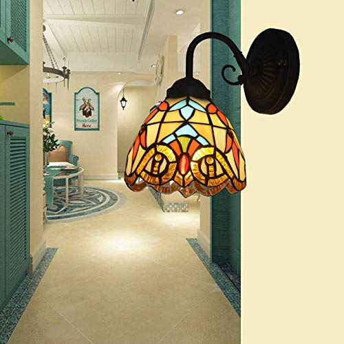 Illuminazioni per pareti lampade applique lampada da comodino classica camera da letto con specchiera frontale bagno in stile barocco singola testa in ferro battuto retro lampada da p