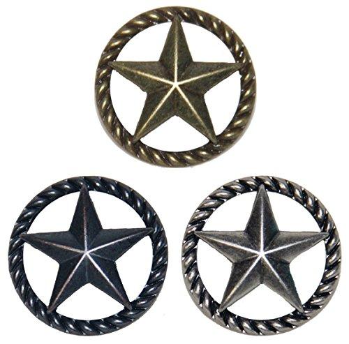 Set von 6dünn Seil und Star Schublade zieht Möbelknopf Western Southwest Decor Texas, 1 Please Select, 1 1/2 Inches