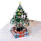 Junjie Nenu Dreidimensionale Weihnachtskarte Details über 3D Pop Up Karte Weihnachten Gruß Baby Geschenk Urlaub Happy New Grußkarte und Umschlag Weihnachten, Geburtstag, Hochzeit
