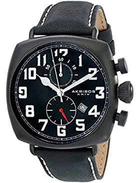 Akribos XXIV Herren Analog-Anzeige Quarz Black Watch