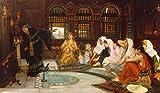 Kunstdruck/Poster: John William WaterhouseDie Befragung des Orakels - hochwertiger Druck, Bild, Kunstposter, 95x55 cm