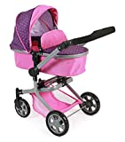Bayer Chic 2000 595 40 - Kombi-Puppenwagen Mika, Dots Purple Pink