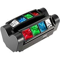 Docooler 90W RBGW Effetto Luce DJ Auto Suono Console Testa di Ragno di Doppio-fila 6/12 Canali Dotato di Cavo di Segnale Supporto Modalità di Controllo Master-slave