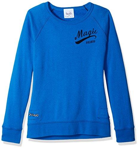 NBA Damen Sweatshirt Atlanta Hawks Dugout Reversible Pullover, Damen, Touch Dugout Reversible Sweatshirt, königsblau, Small Florida-retro-sweatshirt