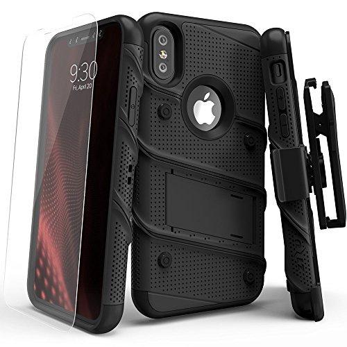 101e0fb72d3 Zizo Bolt Cover - Funda para Apple iPhone X con Grado Militar + Protector de  Pantalla