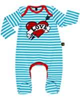 Rockabye-Unisex Baby Loveheart Suit Long Sleeve All-In-One (Blue/White)