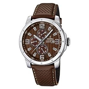 Reloj Festina F16585/A de cuarzo para hombre con correa de piel, color marrón de Festina