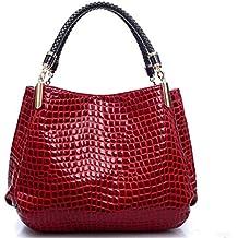 SJMMBB Clasico De La Moda Mujer Bolso De Solo Hombro Bolsa,Rojo,36X29X11Cm
