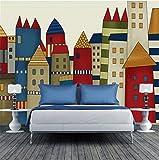 CICDGD Tapeten Tapeten-Kreatives Nettes Karikatur-Schloss-Muster 3D Kundenspezifische Wandgemälde für Kinder Schlafzimmer/Wohnzimmer / Kindergarten/themenorientiertes Hotel/Vergnügungspark