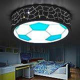 AMZH Kreative Kinderzimmer Fußball Deckenlampe Pflege Gläser Tag Laterne führte Tag Laterne Junge und Mädchen führte Schlafzimmer Zimmer Licht (40x12cm) E27 weißes Licht,