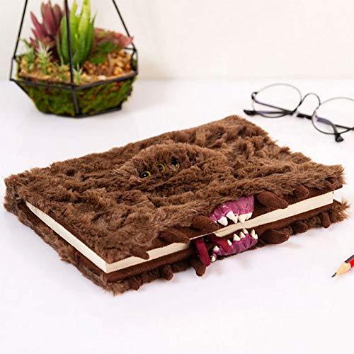 BB Designs Cuaderno de Monstruos de Harry Potter. El Monstruo de Peluche DIN A5 Tapa Intercambiable marrón 10