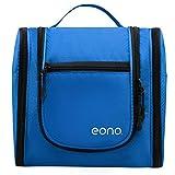 Eono Essentials - Neceser grande unisex con gancho para colgar para artículos de maquillaje y afeitado, cosméticos, accesorios de viaje y otros objetos personales (negro)