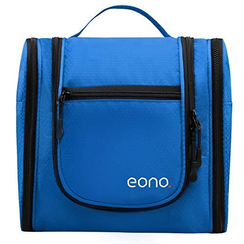 Eono Essentials borsa da toilette unisex grande beauty case per uomo e donna per cosmesi rasoi accessori da viaggio ed effetti personali appendibile