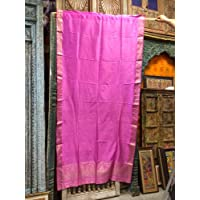 Mogul Interior India Sari Curtains Pink Saree Drapes Window Treatment