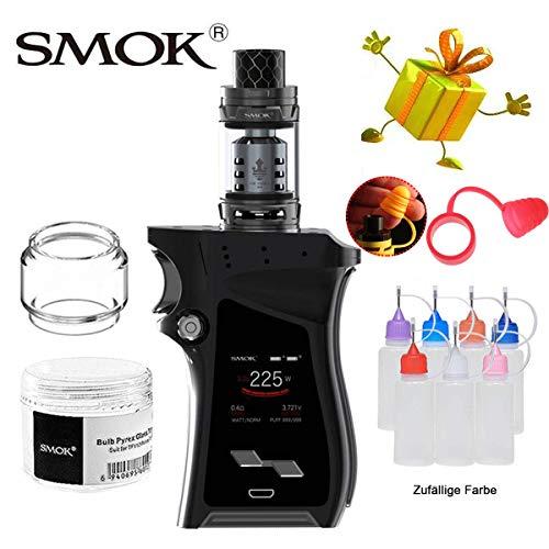 E-Zigarette, Authentisch Smok 225W Mag Kit mit Flasche, Keine E-Flüssigkeit und Nikotin (Schwarz Gewehr Metall) - E Zigaretten Flüssigkeit
