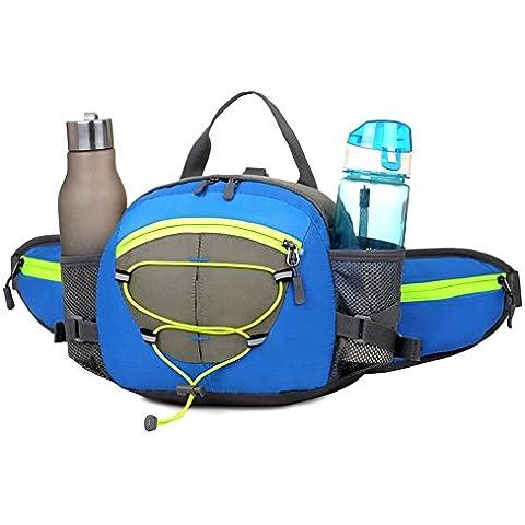 wewod Multi-Function tasca cintura esterna con impermeabile Unisex, Blau, 25*22*10 cm