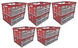OKT Germany GmbH 10 x Profi - Klappbox TÜV Rheinland zert. 45 L bis 50 kg Silber/rot Faltbox Kunststoff Box Kiste