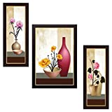 Delight Rose Painting with Brown Frame S...