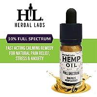 Herbal Labs Pure Organic Hemp Oil Drops Full Spectrum High Strength Raw Hemp Extract | 10% | 1000mg Natural Ingredients | 10ml Bottle 21