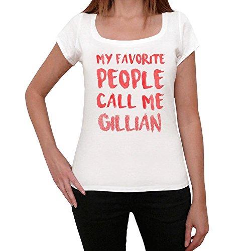 Gillian magliette donna maglietta con parole maglietta regalo bianca