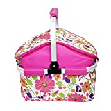 ETTG Insulated Folding Cooler Picnic Basket Bag Thermal Tote--Color Randomization