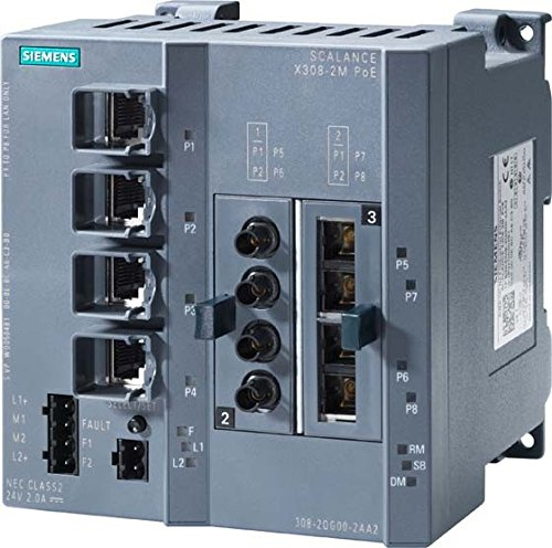 SIEMENS - SWITCH INDUSTRIAL ETHERNET SCALANCE X308-2M TS