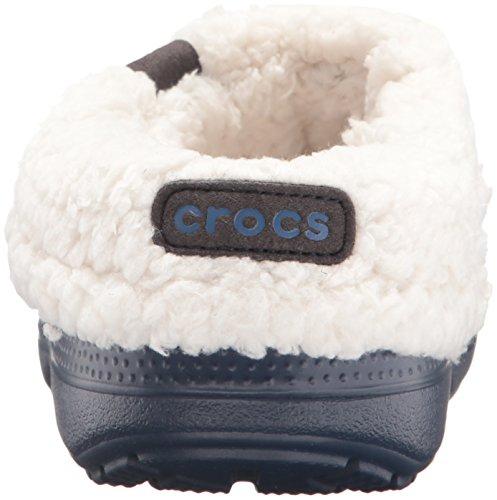 Crocs Clscblitz2clogk, Ciabatte Unisex – Bambini Blu (Navy/Oatmeal)