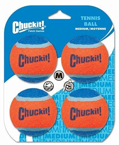 Chuckit! Tennis Balls, Medium, 4 Balls by Canine Hardware (Medium-tennis-bälle)