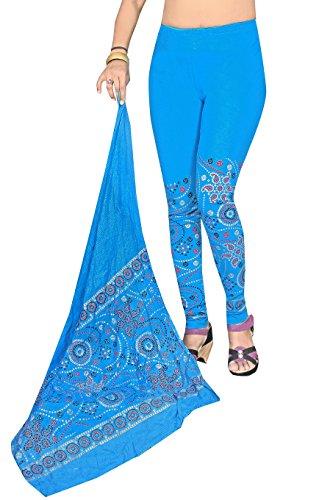 Snija Fashion Women\'s Cotton Leggings (PRDL2112_Sky Blue _X-Large)