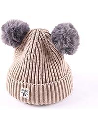 Descrizione prodotto. 2Pcs Bambino Neonata Ragazzi Inverno Caldo a maglia  per capelli Cat Cap + Sciarpa 1fd3017fef9b