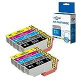 ECSC kompatibel Tinte Patrone Ersatz für Epson XP-530 XP-540 XP-630 XP-635 XP-640 XP-645 XP-830 XP-900-33XL (Schwarz/Photo-Schwarz/Cyan/Magenta/Gelb, 10-Pack)