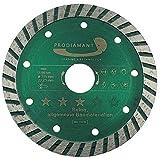 PRODIAMANT disco diamantato cemento/tutti i materiali da costruzione 115 mm x 22,2 mm disco diamantato 115 mm, adatto per smerigliatrici angolari