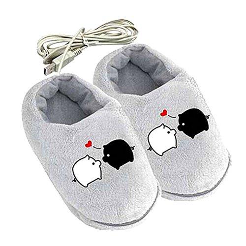 Preisvergleich Produktbild b-comrade Cute Cartoon Pig USB Heizung Kissen Hausschuhe beheizt Schuhe für Fußwärmer