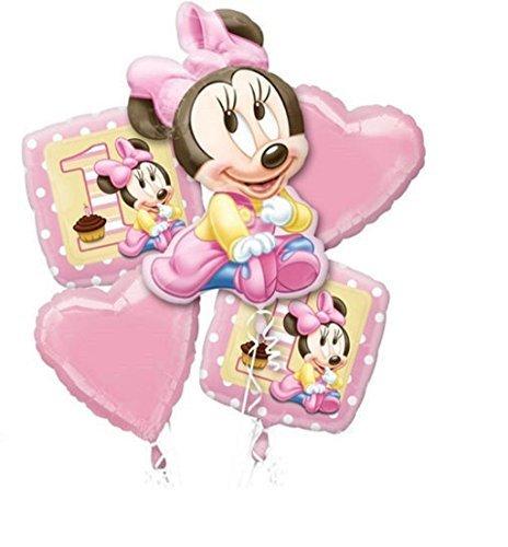 Minnie Mouse 1st Birthday Balloon Bouquet Combo Mylar Foil Balloon by Winner International