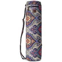 fremous Yoga Mat Bolsa y transportistas para mujeres y hombres–Portátil multifunción bolsillos de almacenamiento lienzo Yoga bolsas, Lotus