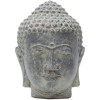 buddha kopf head figur steinfigur skulptur bali garten 53cm garten. Black Bedroom Furniture Sets. Home Design Ideas